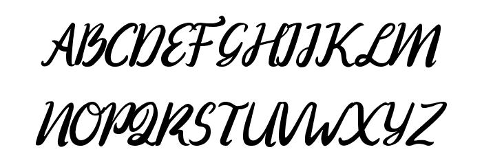 Ranania  Regular Font Litere mari