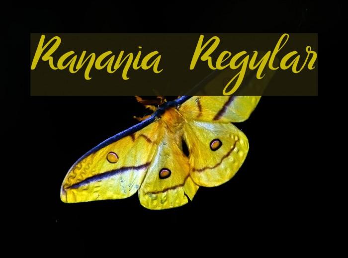 Ranania  Regular Font examples