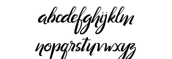 Ranania  Regular Font Litere mici