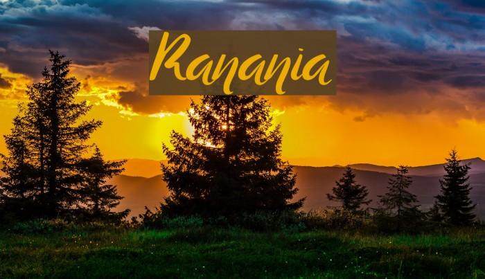 Ranania لخطوط تنزيل examples