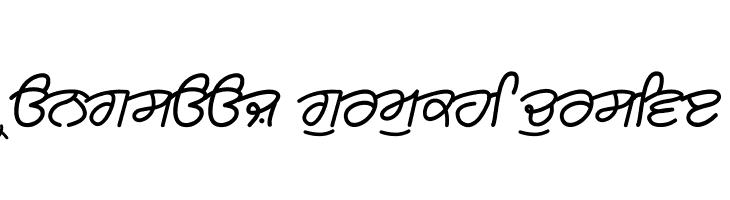 Rangsaaz gurmukhi cursive  नि: शुल्क फ़ॉन्ट्स डाउनलोड