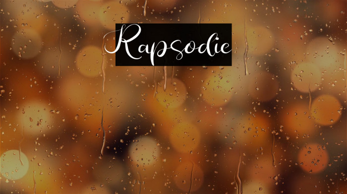 Rapsodie Caratteri examples