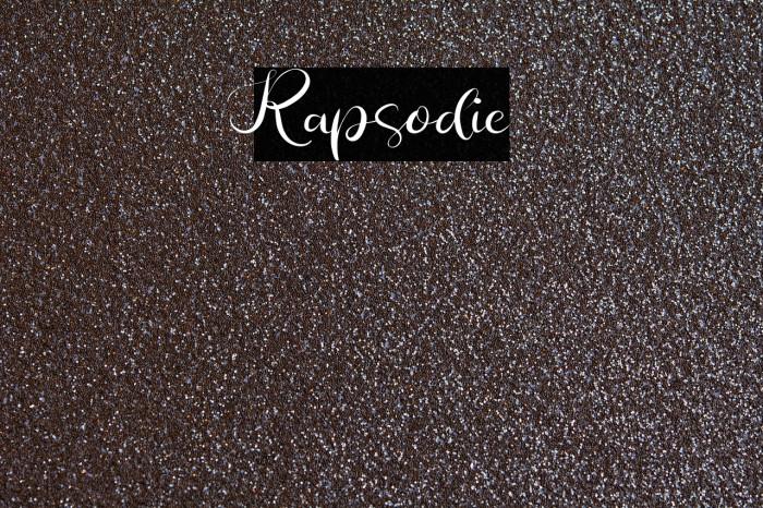 Rapsodie 字体 examples