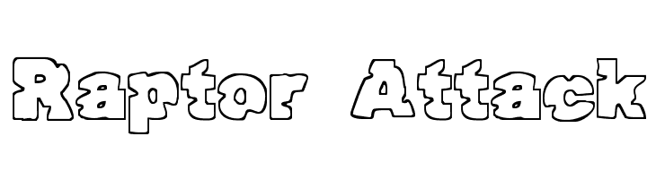 Raptor Attack  Free Fonts Download
