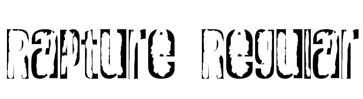 Rapture Regular  Free Fonts Download