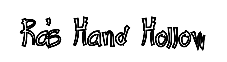 Ra's Hand Hollow  Free Fonts Download