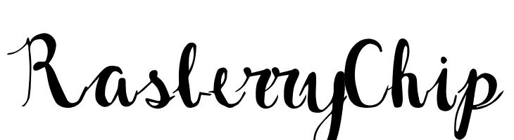 Rasberry Chip Font