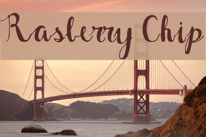 Rasberry Chip Font examples
