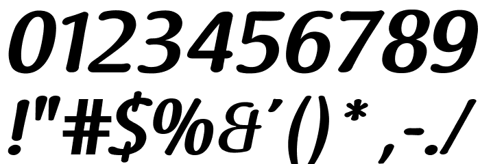 Raspoutine DemiBold Italic Font OTHER CHARS
