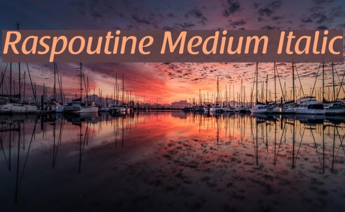 Raspoutine Medium Italic Font examples