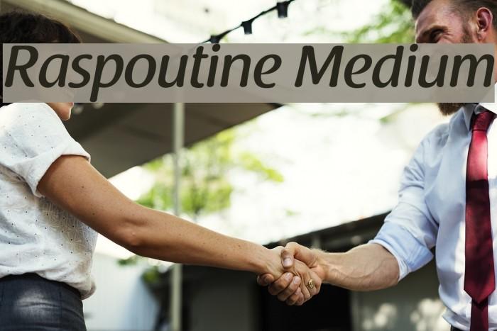 Raspoutine Medium Font examples
