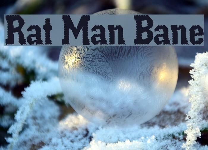 Rat Man Bane Шрифта examples