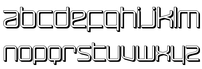 RaveParty Offset Font LOWERCASE