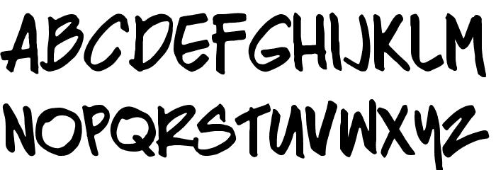 Razing Regular Font UPPERCASE