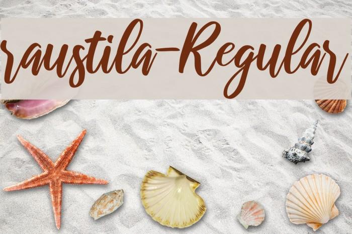 raustila-Regular Schriftart examples