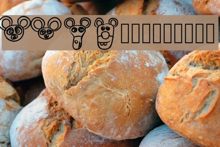 RCMiceBats Font examples