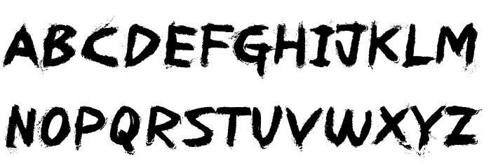 REDRUM Font UPPERCASE