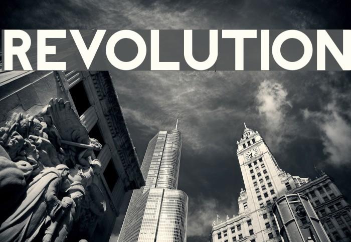REVOLUTION Font examples