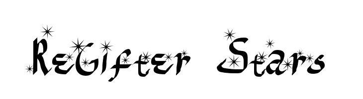 ReGifter Stars  baixar fontes gratis