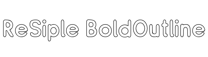 ReSiple BoldOutline  Free Fonts Download