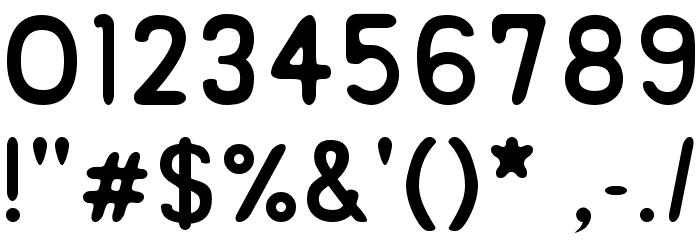 ReSiple Rounded Font OTHER CHARS