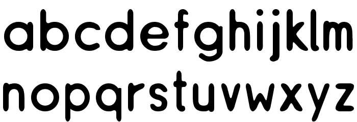 ReSiple Rounded Font LOWERCASE