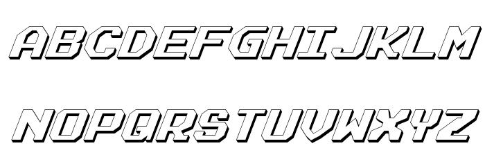 Realpolitik Shadow Italic फ़ॉन्ट अपरकेस
