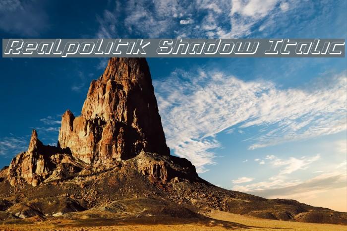 Realpolitik Shadow Italic फ़ॉन्ट examples