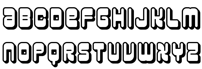 Reason Shadow BRK Font LOWERCASE
