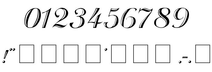 Rechtman-Script Medium フォント その他の文字