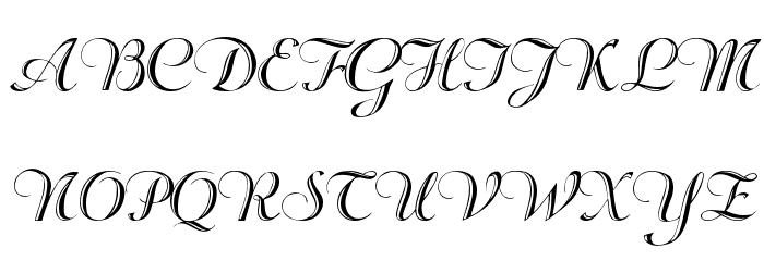 Rechtman-Script Medium フォント 大文字