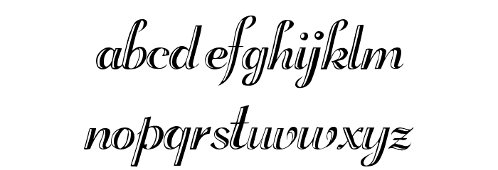 Rechtman-Script Medium フォント 小文字