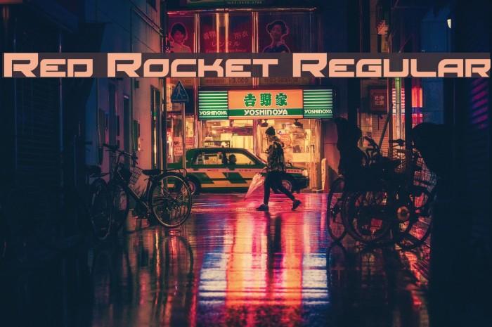 Red Rocket Regular Fonte examples