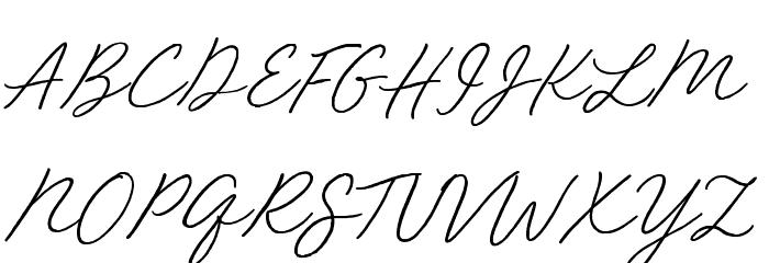 Red Vevet Font UPPERCASE