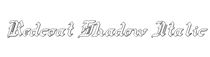 Redcoat Shadow Italic  Free Fonts Download