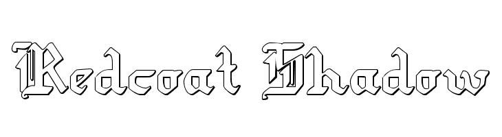 Redcoat Shadow  Free Fonts Download