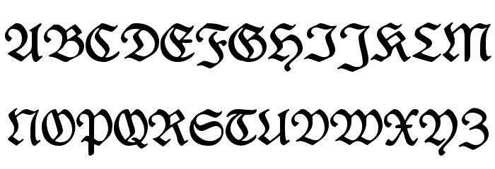 Rediviva Font Litere mari