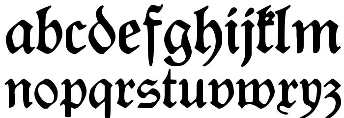 Rediviva Font Litere mici