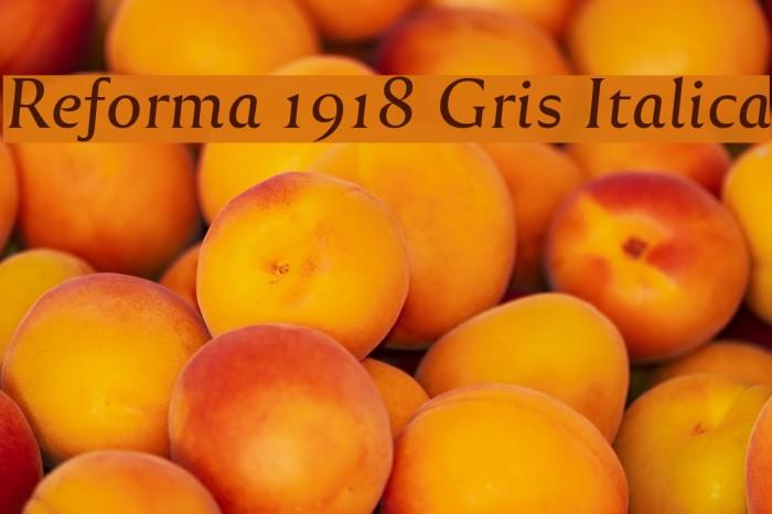 Reforma 1918 Gris Italica Fuentes examples