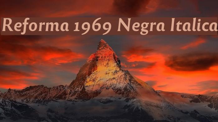 Reforma 1969 Negra Italica Fuentes examples