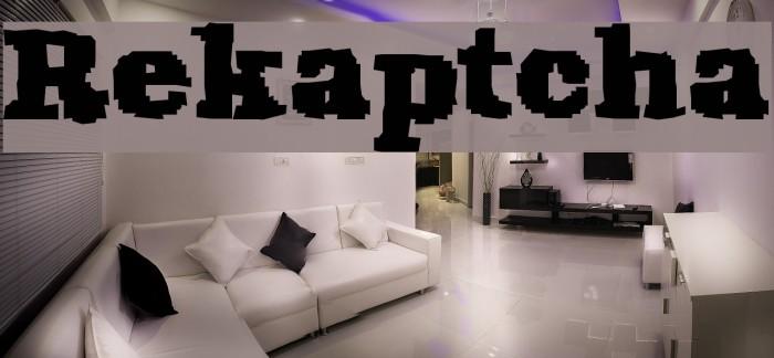 Rekaptcha Font examples