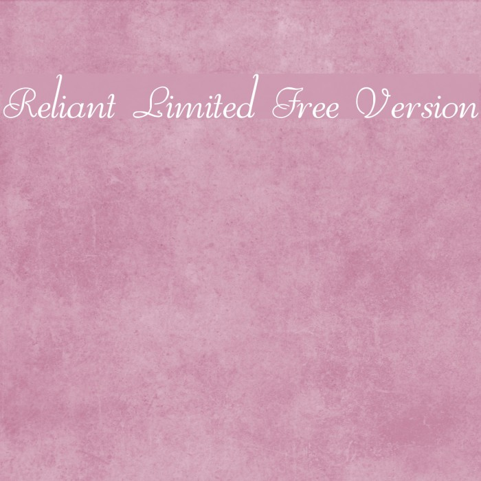 Reliant Limited Free Version Шрифта examples