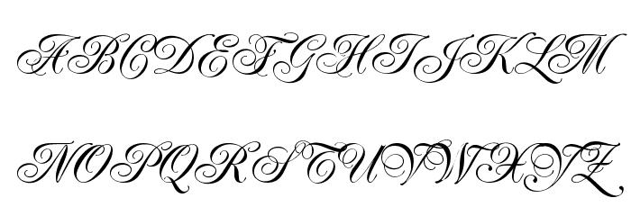 Renaissance-Regular फ़ॉन्ट अपरकेस