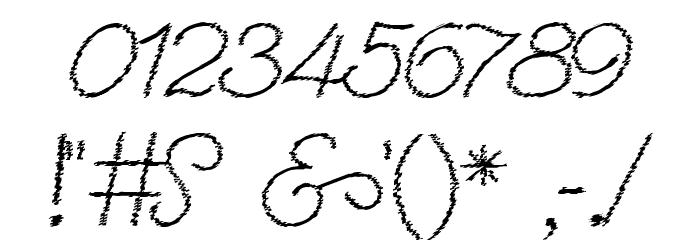 Renania Trash Шрифта ДРУГИЕ символов