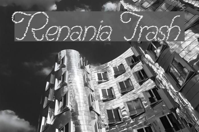 Renania Trash Шрифта examples