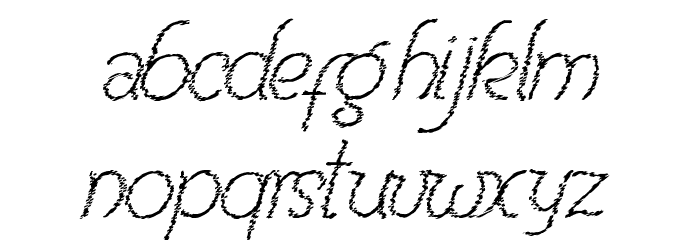 Renania Trash Шрифта строчной