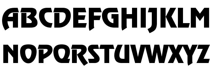 Renfrew Font UPPERCASE