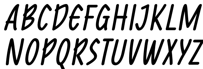 Reprineato Italic Font UPPERCASE