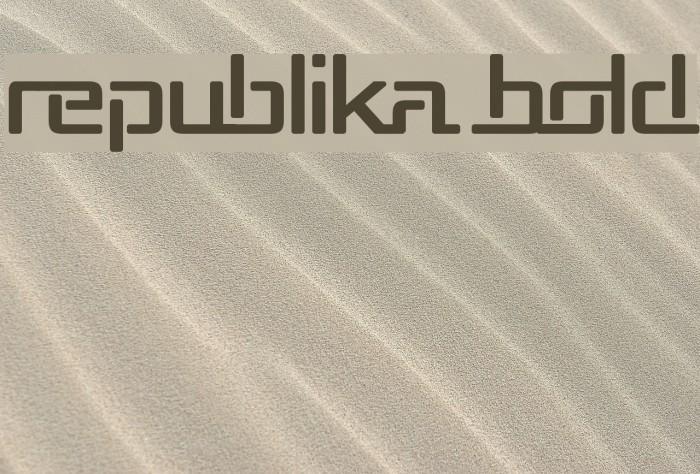 Republika Bold Font examples