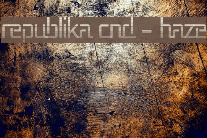 Republika Cnd - Haze Font examples